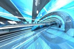 Stazione di metro futuristica Immagini Stock