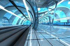 Stazione di metro futuristica Fotografia Stock
