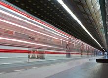 Stazione di metro pubblica moderna Fotografia Stock Libera da Diritti