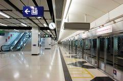 Stazione di metro vuota Fotografia Stock Libera da Diritti