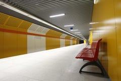 Stazione di metro vuota Fotografie Stock Libere da Diritti
