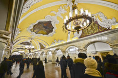 Stazione di metropolitana di Komsomolskaya, Mosca Immagine Stock