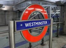 Stazione di metropolitana di Londra Immagine Stock Libera da Diritti