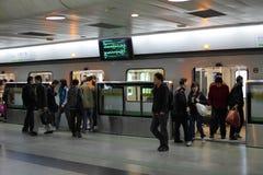 Stazione di metropolitana di Schang-Hai Immagini Stock Libere da Diritti