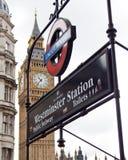 Stazione di metropolitana di Westminster Fotografia Stock