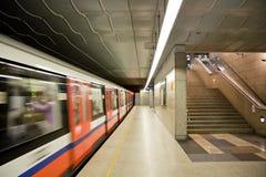 Stazione di metropolitana moderna. Fotografia Stock Libera da Diritti
