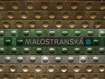 Stazione di metropolitana a Praga Immagine Stock Libera da Diritti