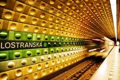 Stazione di metropolitana a Praga Fotografie Stock Libere da Diritti