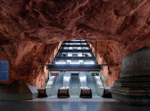 Stazione di metropolitana Radhuset a Stoccolma Immagini Stock Libere da Diritti