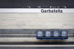 Stazione di metropolitana vuota Fotografia Stock Libera da Diritti
