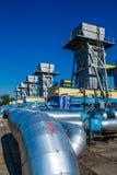 Stazione di misura del gas Immagine Stock Libera da Diritti