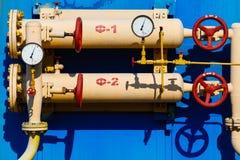 Stazione di misura del gas Immagini Stock Libere da Diritti