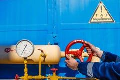 Stazione di misura del gas Fotografia Stock Libera da Diritti