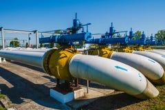 Stazione di misura del gas Immagine Stock