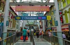 Stazione di MRT di Chinatown a Singapore fotografia stock libera da diritti