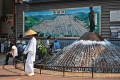 Stazione di Nara nel Giappone Fotografia Stock