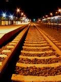 Stazione di notte Immagine Stock