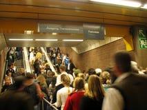 Stazione di Oktoberfest - di Theresienwiese U-Bahn Immagini Stock Libere da Diritti