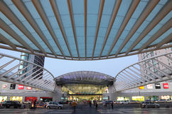 Stazione di Oriente a Lisbona Fotografia Stock
