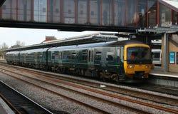 Stazione di Oxford di dmu di turbo del networker della classe 165 di GWR Immagine Stock Libera da Diritti