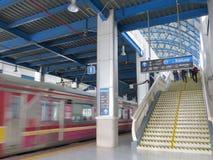 Stazione di Palmerah, Jakarta Immagine Stock Libera da Diritti