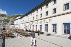 Stazione di Pilatus Kulm vicino alla sommità del supporto Pilatus Immagini Stock Libere da Diritti