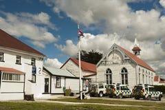 Stazione di polizia in Stanley, Malvinas Fotografia Stock Libera da Diritti