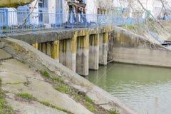Stazione di pompaggio dell'acqua dell'impianto di irrigazione delle risaie Immagine Stock Libera da Diritti