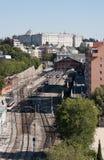 Stazione di Principe e di Royal Palace Pio, Madrid Fotografia Stock Libera da Diritti
