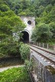 Stazione di Psyrtsha del tunnel di ferrovia in nuovo Athos Fotografie Stock Libere da Diritti