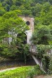 Stazione di Psyrtsha del tunnel di ferrovia in nuovo Athos Fotografia Stock Libera da Diritti