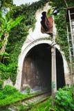 Stazione di Psyrtsha del tunnel di ferrovia in nuovo Athos Immagine Stock Libera da Diritti