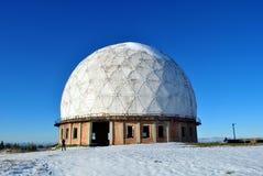 Stazione di radar di inverno Fotografie Stock