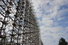 Stazione di Radiolacation & x22; Duga& x22; , Zona di Chornobyl fotografia stock libera da diritti