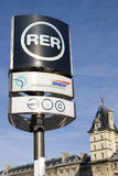 Stazione di RER, Parigi Immagini Stock