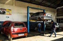 Stazione di riparazione dell'automobile Fotografie Stock