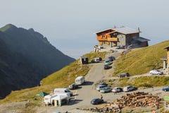 Stazione di salvataggio della montagna della località di soggiorno del lago Balea Fotografia Stock