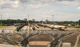 Stazione di separazione ferroviaria del carico Fotografie Stock Libere da Diritti