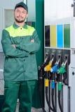Stazione di servizio della benzina Immagini Stock Libere da Diritti