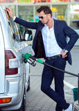 Stazione di servizio della benzina Fotografia Stock