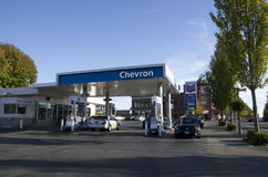 Stazione di servizio di Chevron Immagine Stock Libera da Diritti