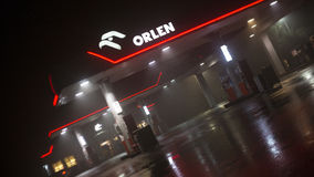 Stazione di servizio di Orlen Fotografie Stock