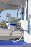Stazione di servizio liquida del gas naturale per i veicoli facendo uso di un'alternativa a benzina immagini stock