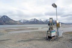 Stazione di servizio in Spitsbergen, Norvegia Fotografie Stock Libere da Diritti