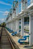 Stazione di servizio, stoccaggio ed infrastruttura, condutture Fotografia Stock