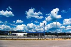 Stazione di servizio sulla strada principale Immagini Stock Libere da Diritti