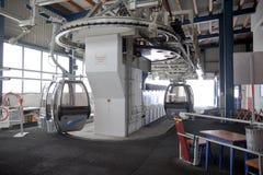 Stazione di sollevamento al supporto Schareck, Austria Immagine Stock