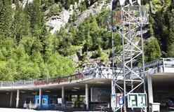 Stazione di sollevamento in Flattach carinziano, Austria fotografia stock