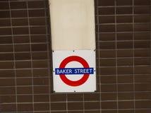 Stazione di Street Tube del panettiere Immagine Stock