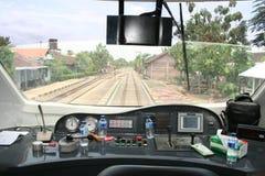 Stazione di Sukoharjo e di Railbus Fotografia Stock Libera da Diritti